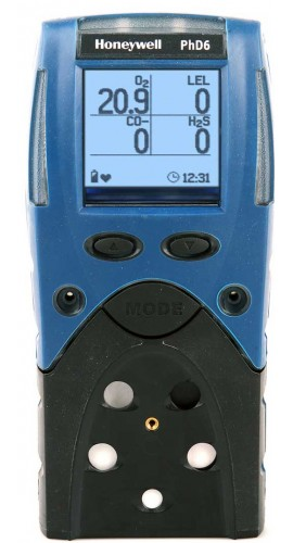 BW 54-53-A09182180N PhD6 O2/NO2/Cl2/NH3/LEL Multi-Gas Detector, Rechargeable Batteries-