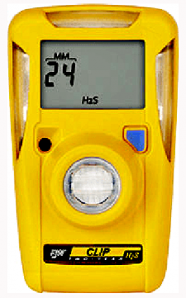 BW BWC3R-H Hydrogen Sulfide Gas Detector, 3-Year Operation, Low 10ppm/High 15ppm Set Point-