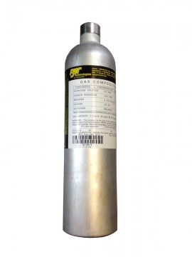 BW CG-Q58-4JK Quad Gas Calibration Gas, CH<sub>4</sub>, O<sub>2</sub>, H<sub>2</sub>S, CO, 58L-
