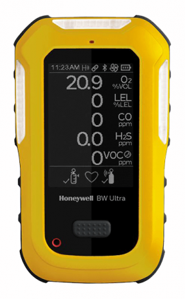 Honeywell BW Ultra Multi-Gas Detector, O<sub>2</sub>, LEL, H<sub>2</sub>S, H<sub>2</sub>S & SO<sub>2</sub>-
