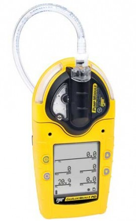 BW M5PID-XWQM-R-P-D-Y-N-00 GasAlertMicro VOC/LEL/O2/CO 5-Gas PID Detector, Rechargeable Battery and Pump-