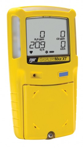 BW XT-00H0-Y-NA GasAlertMax XT II Single Gas Personal Gas Detector with Motorized Pump, H<sub>2</sub>S-